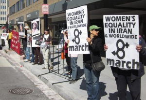 8 March 2013, Gender Equality in Iran & Worldwide, Mission Free Iran