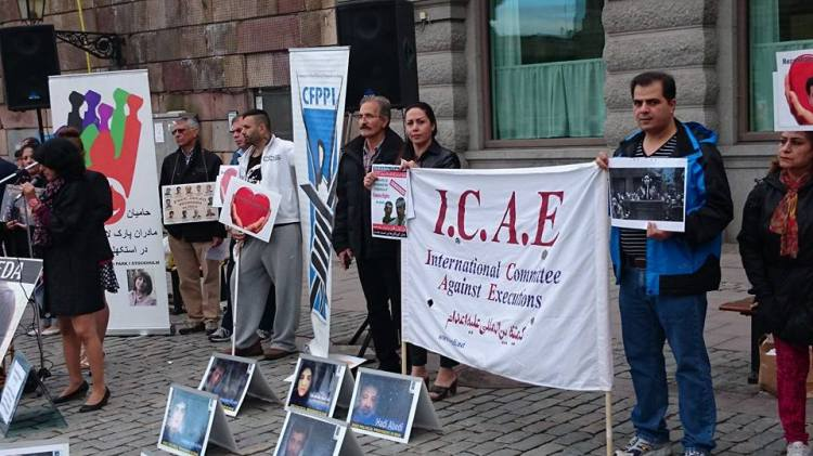 19 June 2014 - Mojgan Mansori Stockholm 20 June Intl Day for Political Prisoners in Iran Action